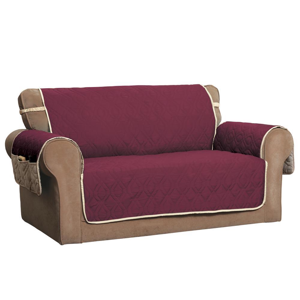 Innovative Textile Solutions ''5 Star Burgundy XL Sofa Protector'' 9381XLSOBURG/IVO