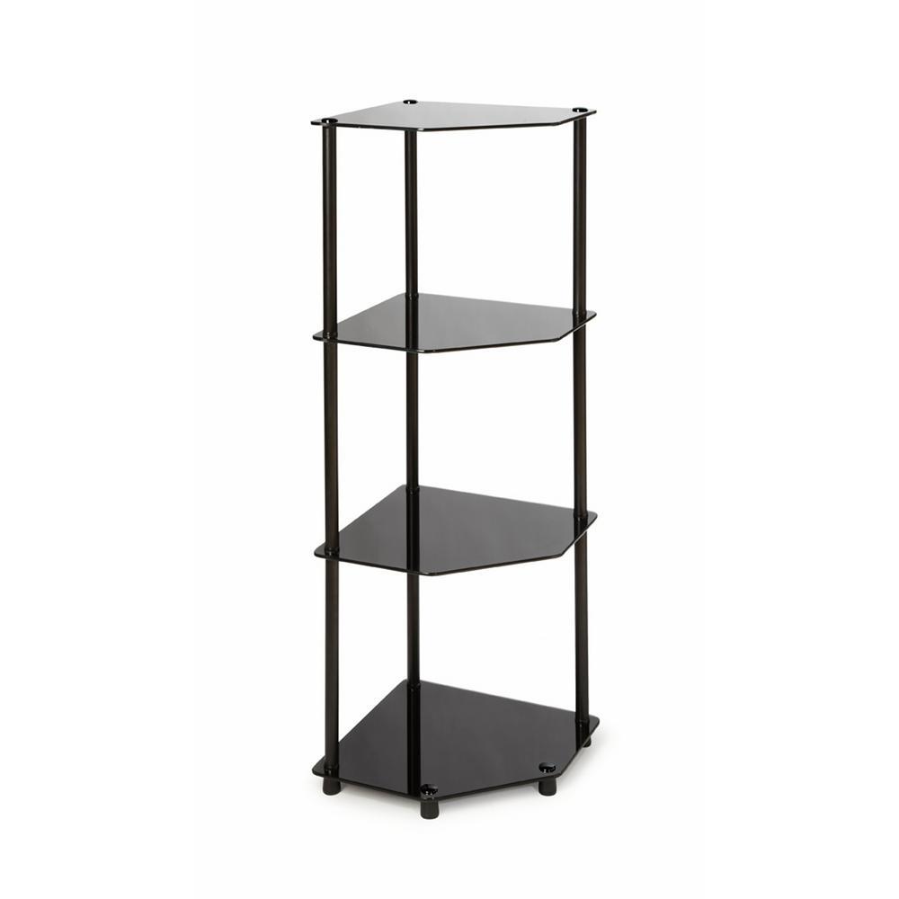 Convenience Concepts Designs2go Black 4 Tier Corner Shelf
