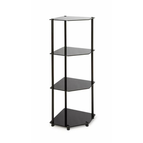 Convenience Concepts Designs2Go Black 4-Tier Corner Shelf 157005B