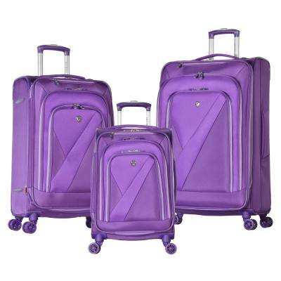 Phantom 3-Piece Purple Luggage Set