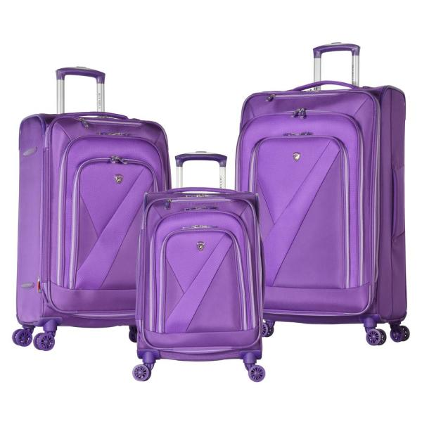Olympia USA Phantom 3-Piece Purple Luggage Set OE-2100-3-PU