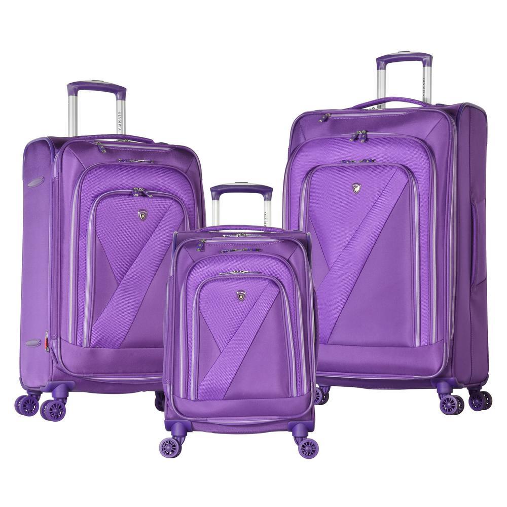 Phantom 3-Piece Purple Luggage Set