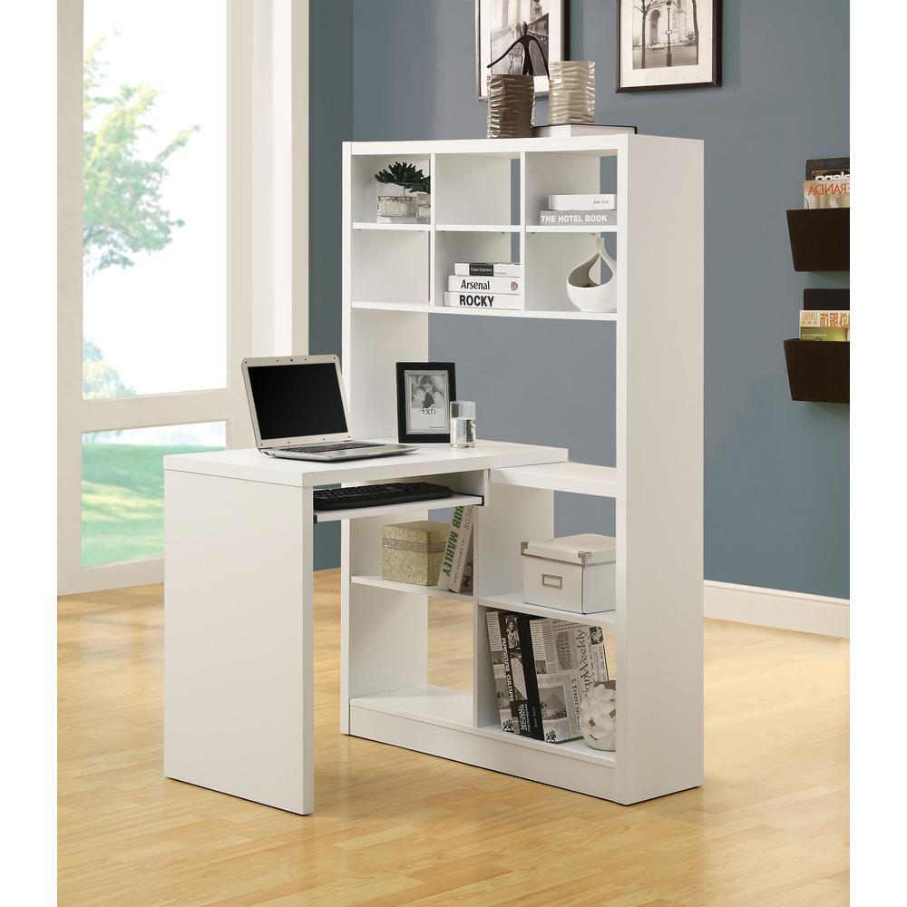 Monarch Specialties 2 Piece White Office Suite