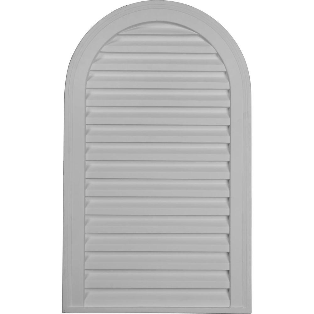 Ekena Millwork 2 in. x 18 in. x 30 in. Decorative Cathedral Gable Louver Vent