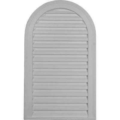2 in. x 18 in. x 30 in. Decorative Cathedral Gable Louver Vent