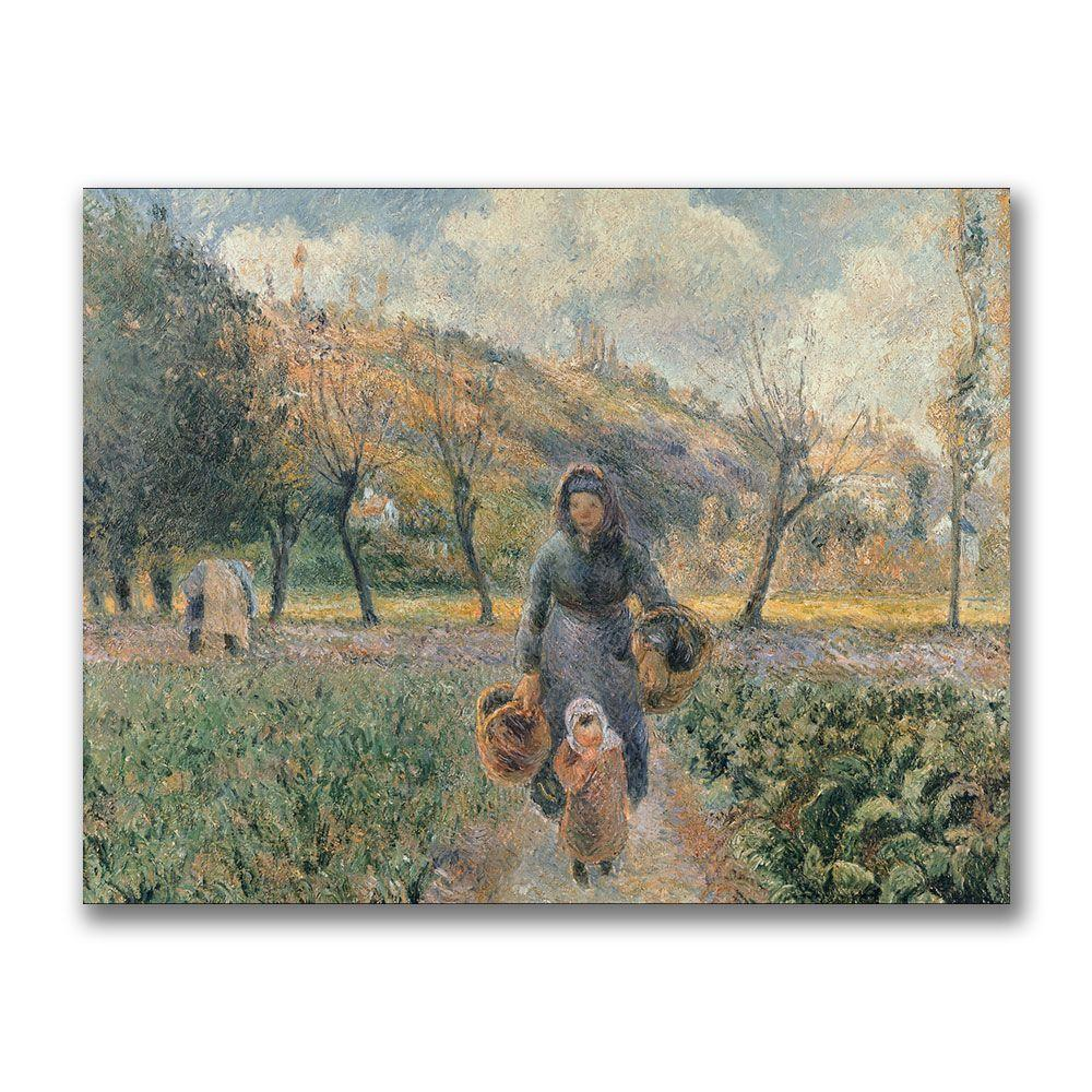 Trademark Fine Art 24 in. x 32 in. In the Garden Canvas Art