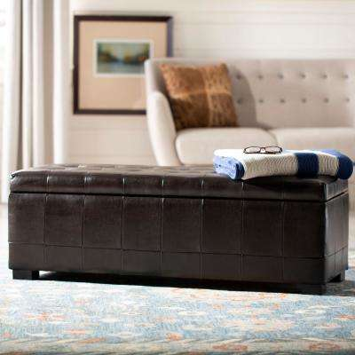 Angelina Brown Storage Bench