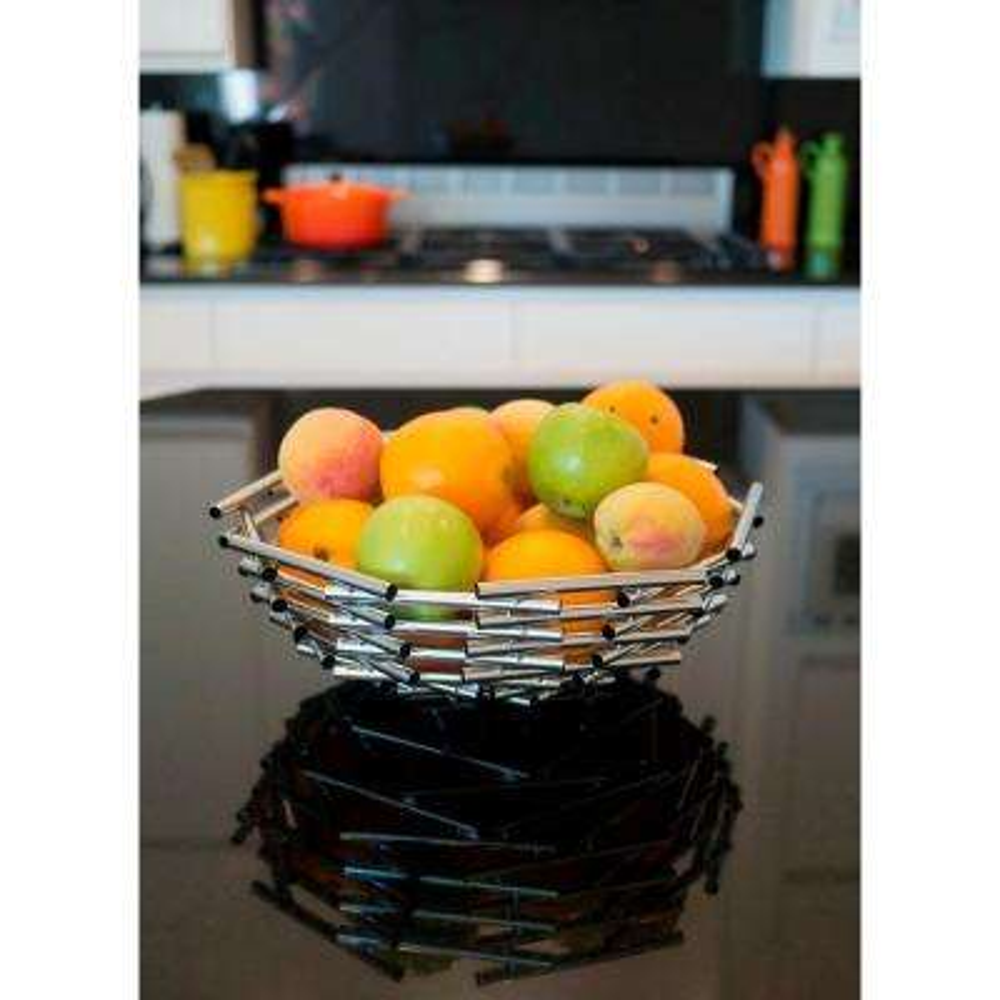 Girard Large Stainless Steel Decorative Fruit Bowl