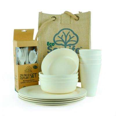 Brown Bamboo Picnic (Set for 4)