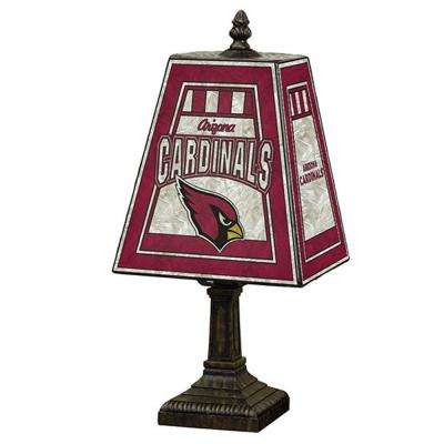 4.5 in. Arizona Cardinals-NFL Black Art Glass Table Lamp