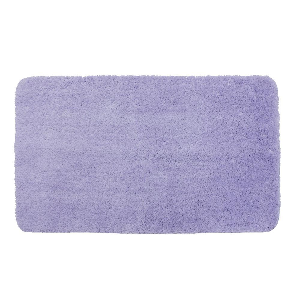 40 in. x 24 in. Polyester Bath Mat in Purple