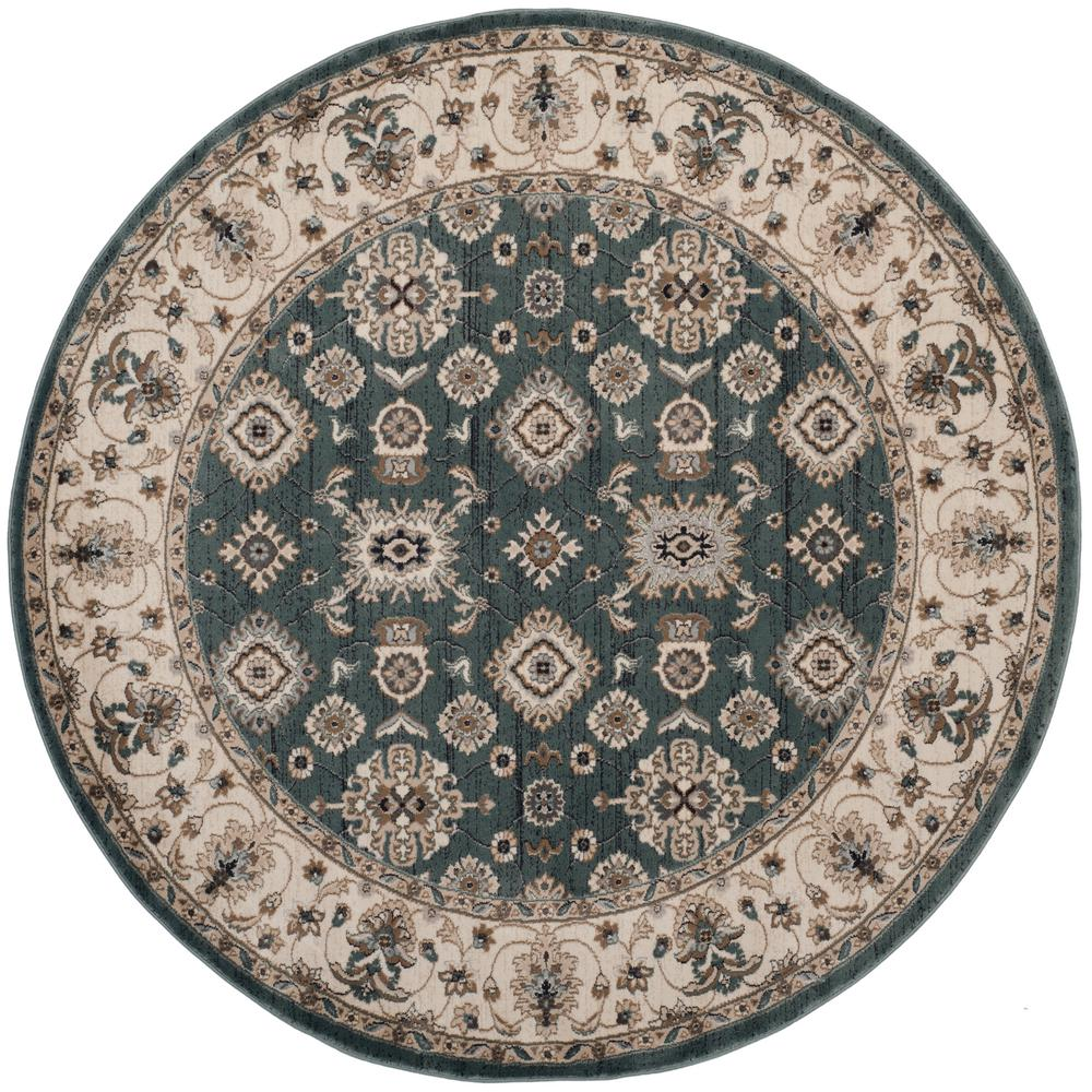 Safavieh Lyndhurst Teal Cream 7 Ft X 7 Ft Round Area Rug