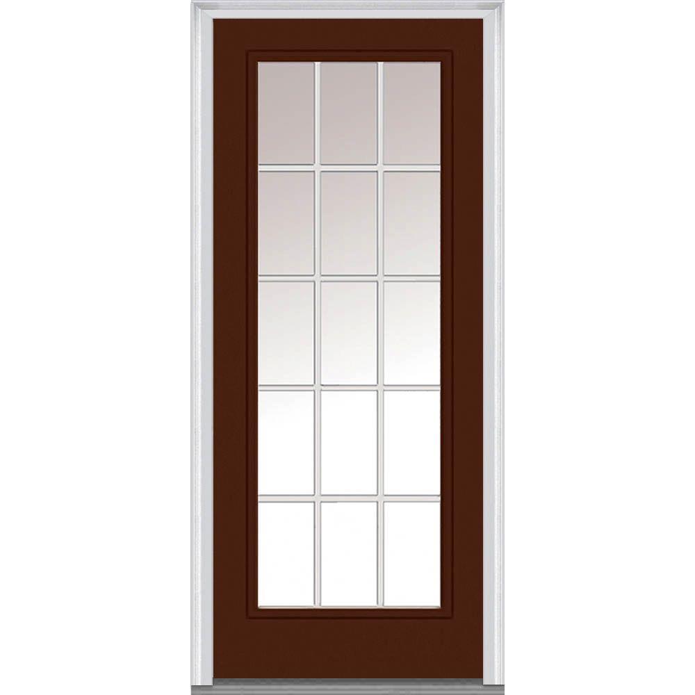 Mmi Door 32 In X 80 In Grilles Between Glass Left Hand Inswing