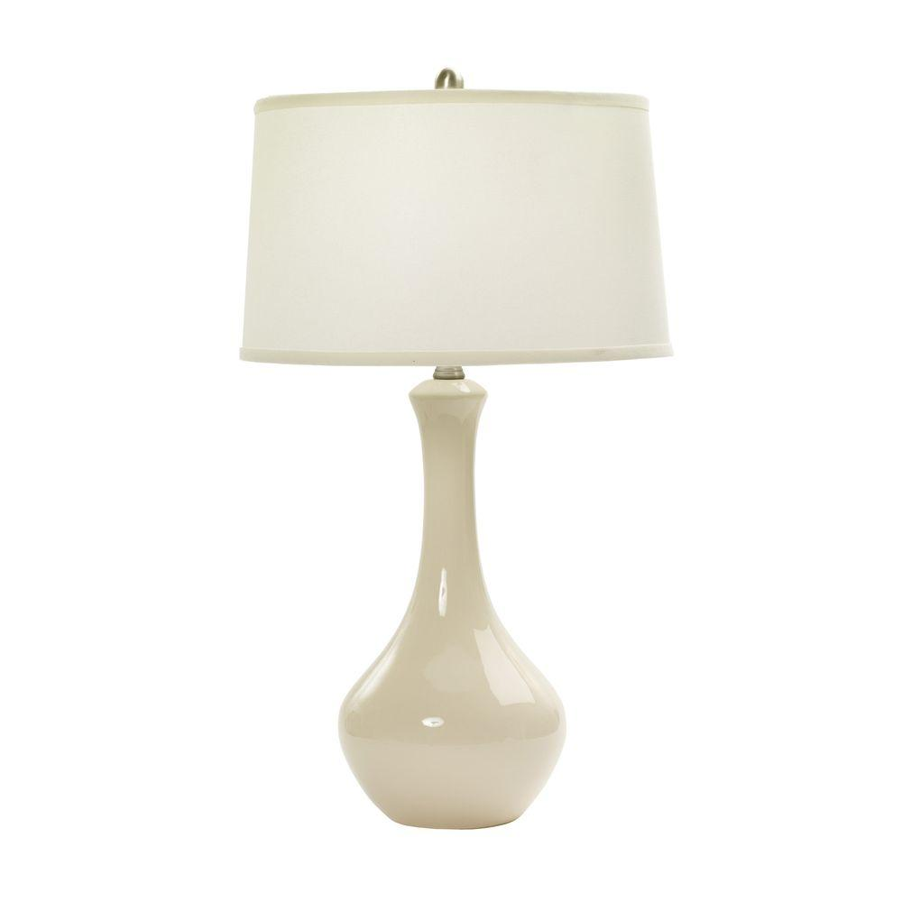 30 In Chapman Ivory Ceramic Table Lamp W Mr8850chapiv The Home Depot