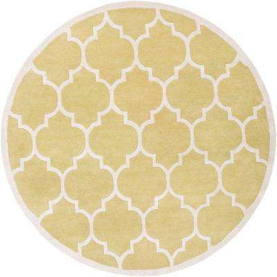 Transit Piper Gold 6 ft. x 6 ft. Round Indoor Area Rug