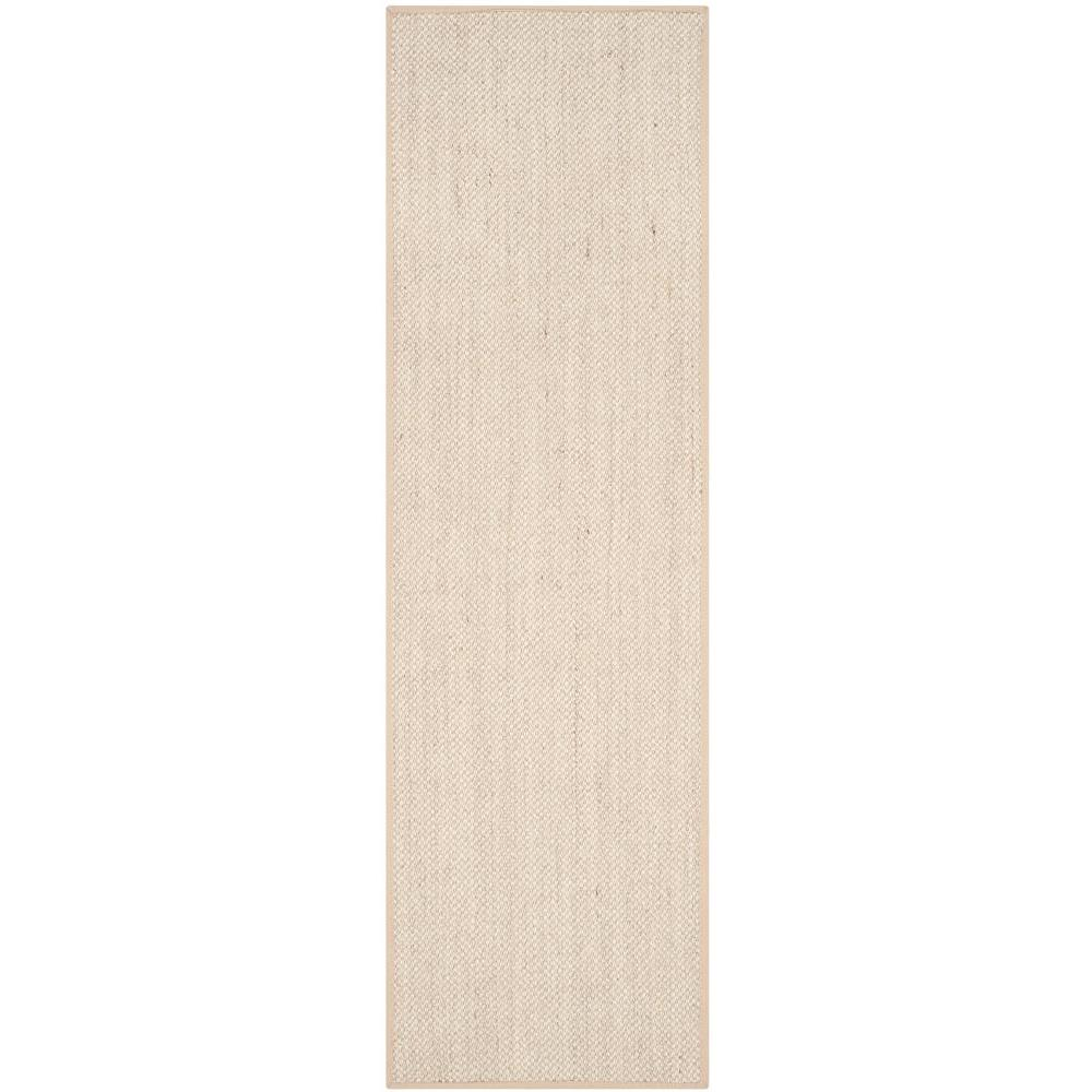 Safavieh Natural Fiber Marble/Linen 3 ft. x 10 ft. Runner Rug