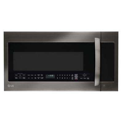 2.0 cu. ft. Over the Range Microwave in Black Stainless Steel with Sensor Cooking
