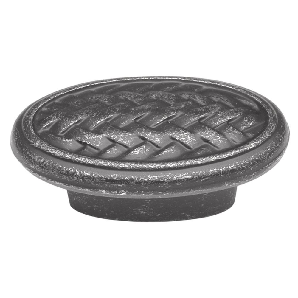 Hickory Hardware Catamaran 2 in. Vibra Pewter Oval Cabinet Knob