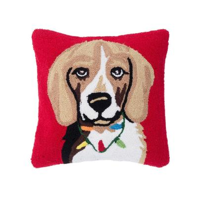 Beagle RedPillow 18 in. x 18 in.