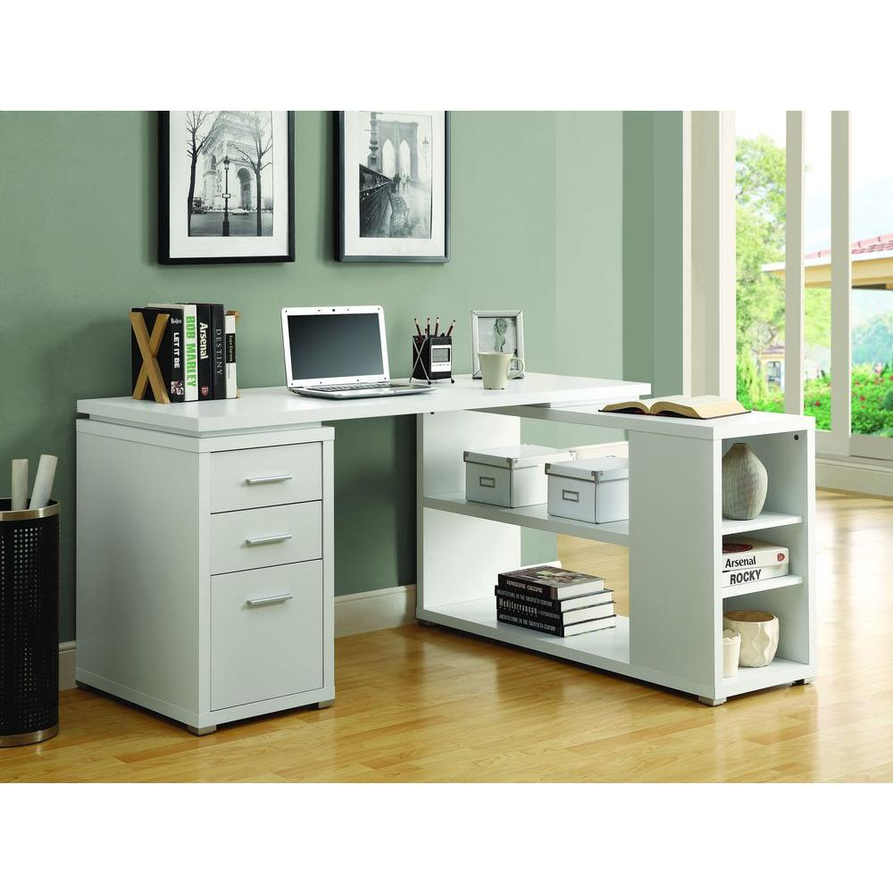 2 Piece White Office Suite