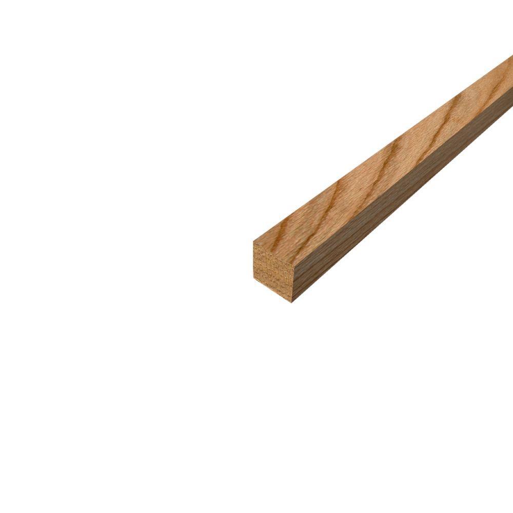 2 in. x 2 in. S4S Red Oak Board [Lineal Foot]