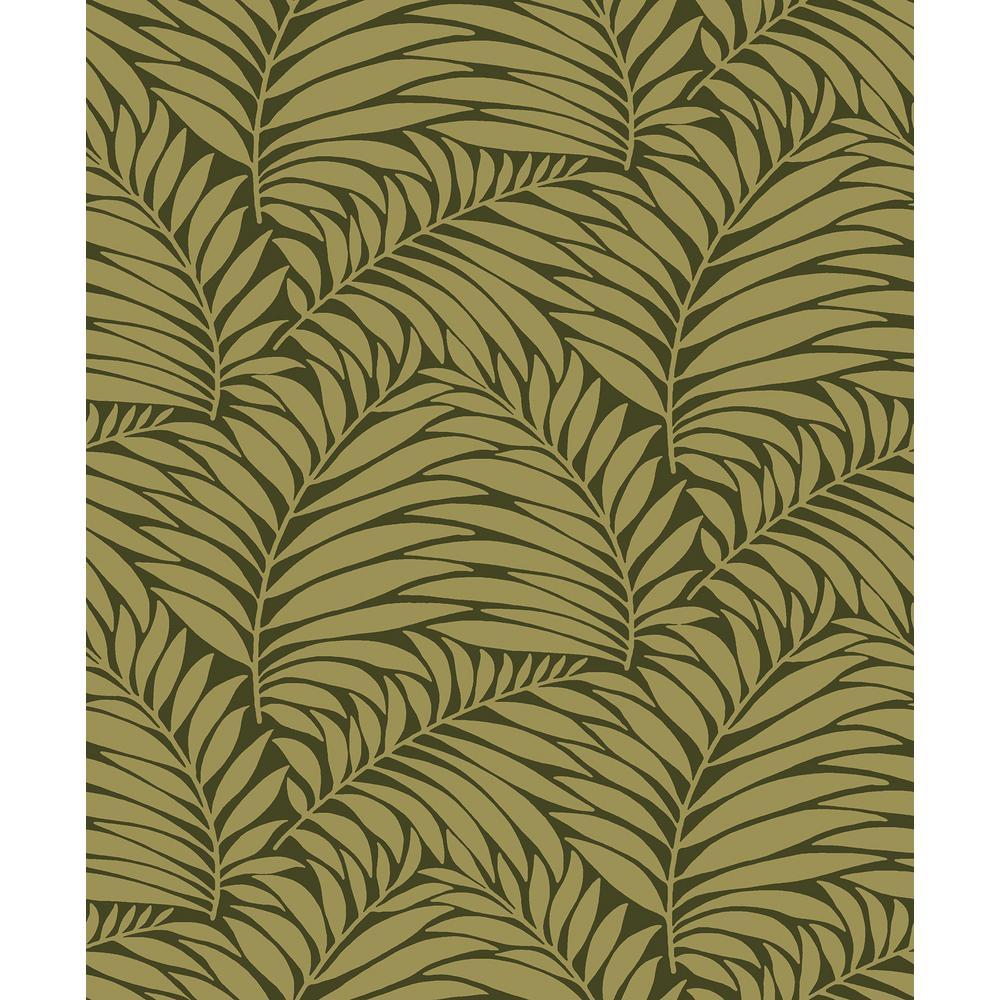 57.8 sq. ft. Myfair Moss Leaf Wallpaper