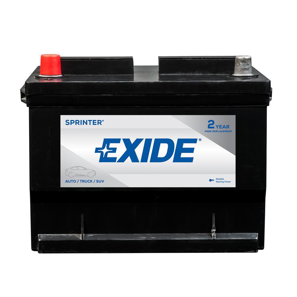 Exide Car Battery >> Exide Sprinter 12 Volts Lead Acid 6 Cell 59 Group Size 650 Cold Cranking Amps Bci Auto Battery