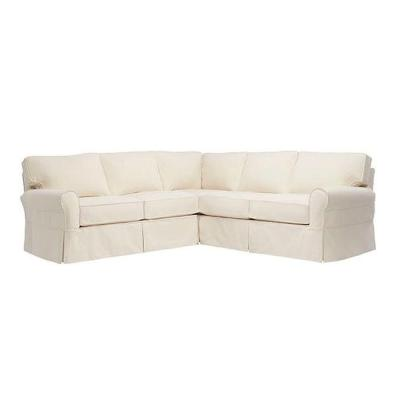 Mayfair 2-Piece Classic Natural Sectional with Loveseat