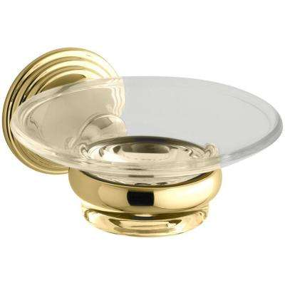 Devonshire Soap Dish in Vibrant Polished Brass