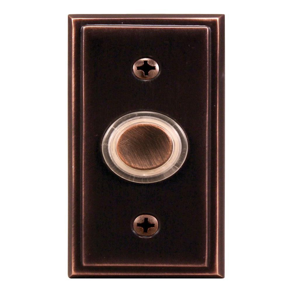 Heath Zenith Wired Bronze Finish LED Key-Finder Round Push Button