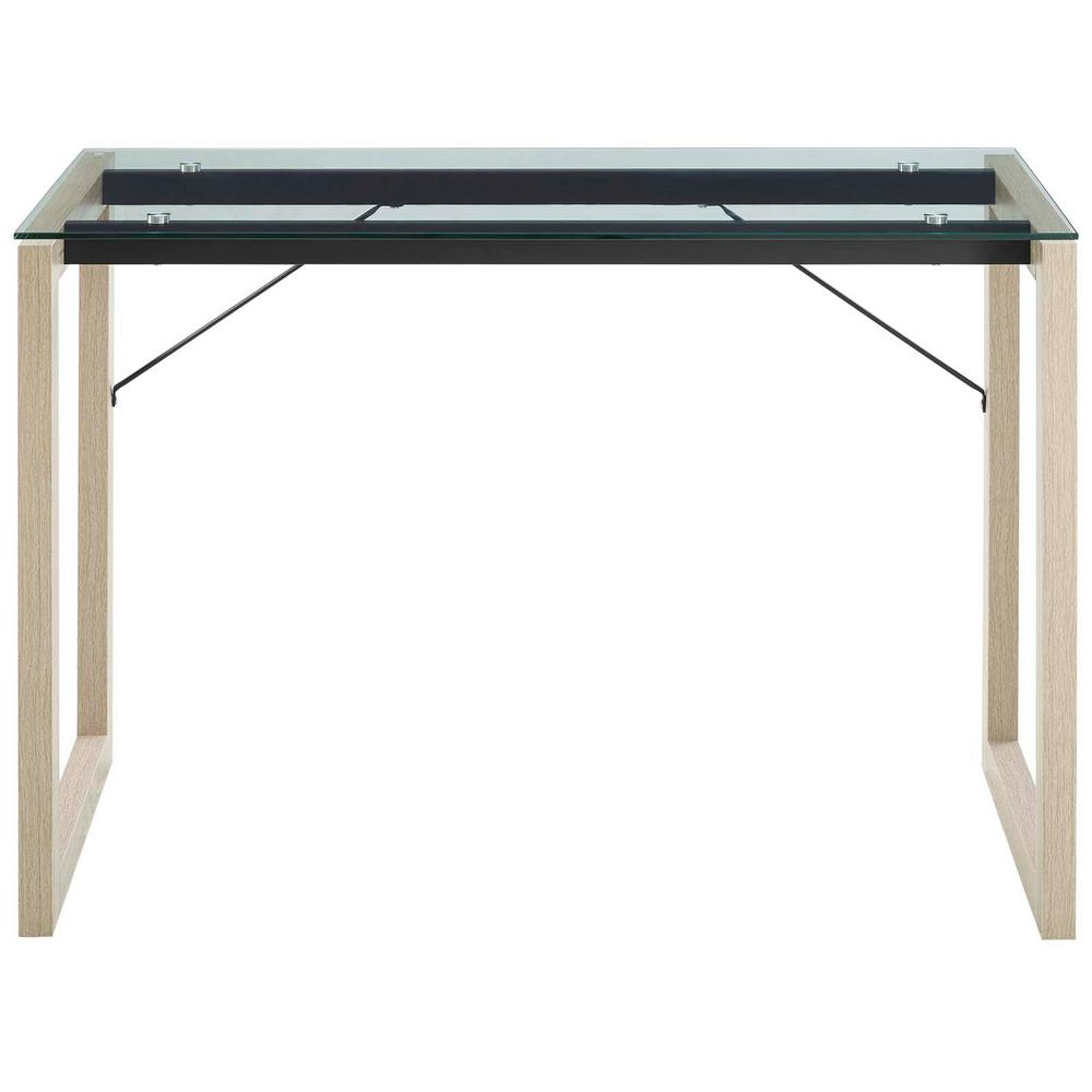 Medley Natural Clear Glass Top Writing Desk