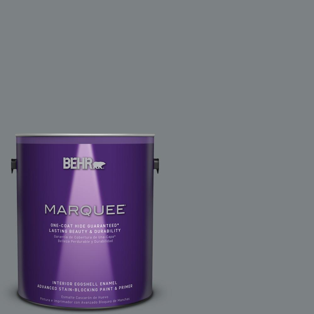 1 gal. #PPU26-03 Legendary Gray Eggshell Enamel Interior Paint