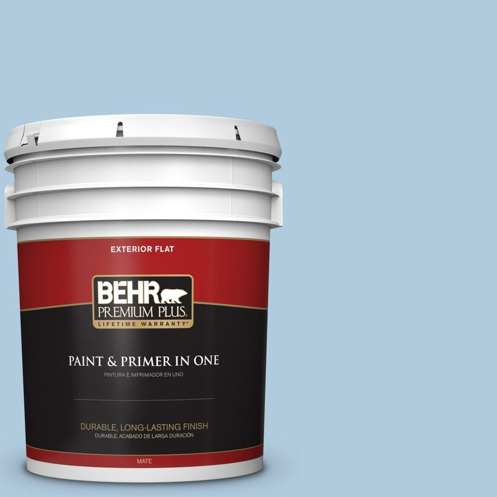 5 gal. #S500-2 Essex Blue Flat Exterior Paint and Primer in