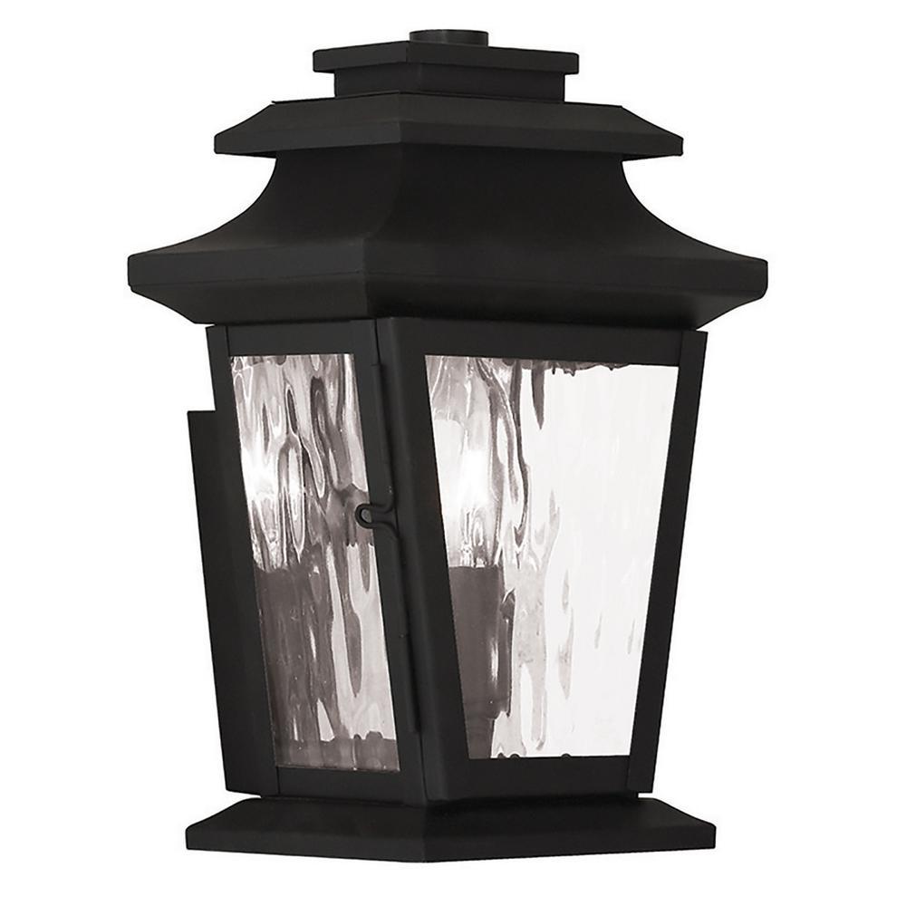 Hathaway 1-Light Black Outdoor Wall Mount Lantern