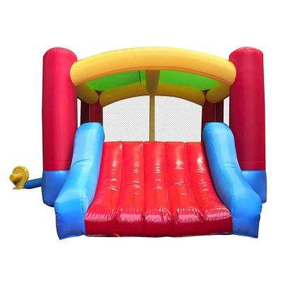 Inflatable Bounce House with Curved Slide and Blower