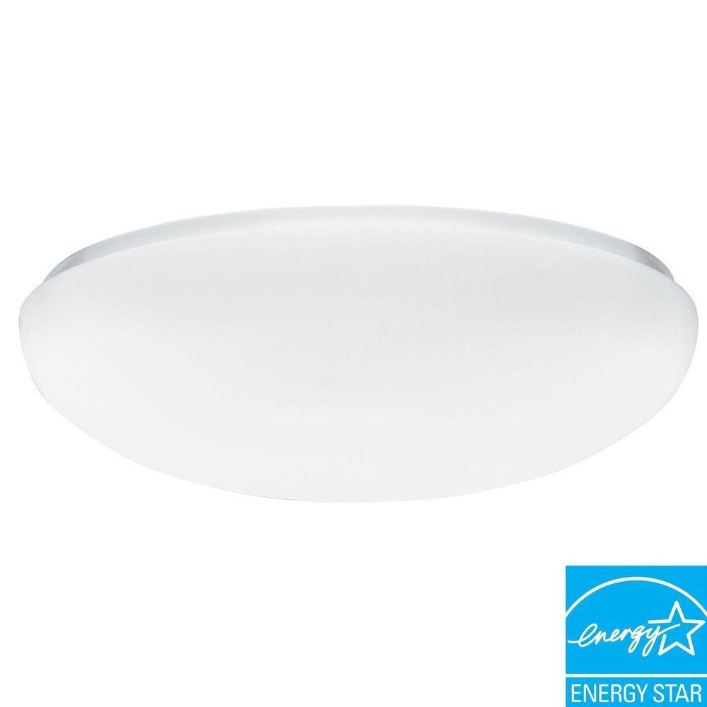 N 1 light white low profile wall or ceiling flushmount fm22 aclr lp n 1 light white low profile wall or ceiling flushmount fm22 aclr lp m4 the home depot aloadofball Gallery