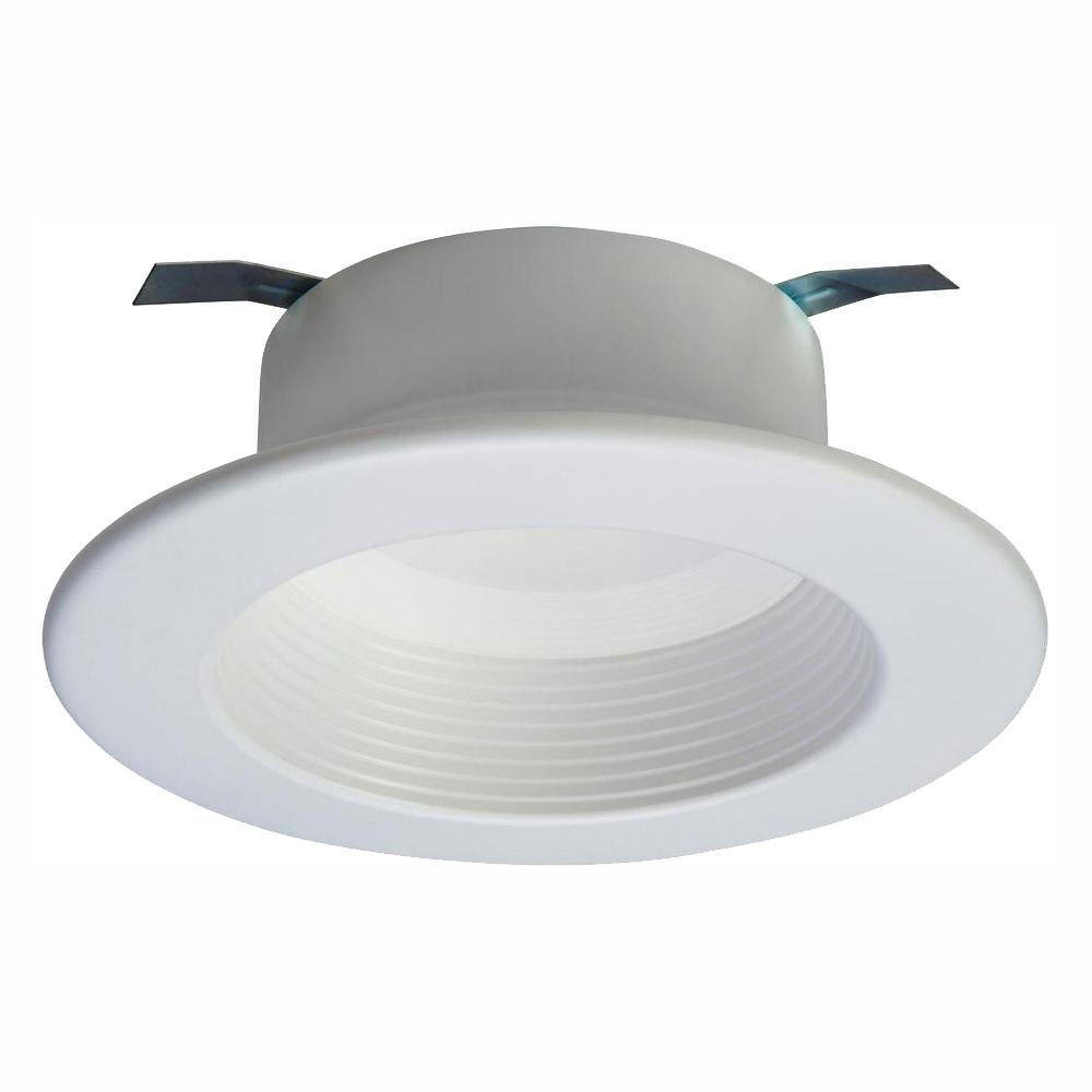 Halo Rl 4 In White Bluetooth Smart Integrated Led Recessed Ceiling Light Trim Tunable Cct 2700k 5000k By Home