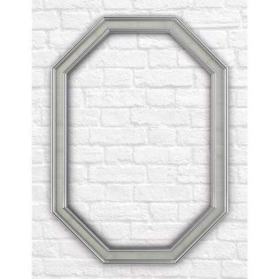 33 in. x 46 in. L3 Octagonal Mirror Frame in Vintage Nickel