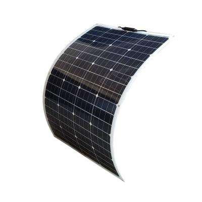 100-Watt Bendable Flexible Thin Lightweight Monocrystalline Solar Panel