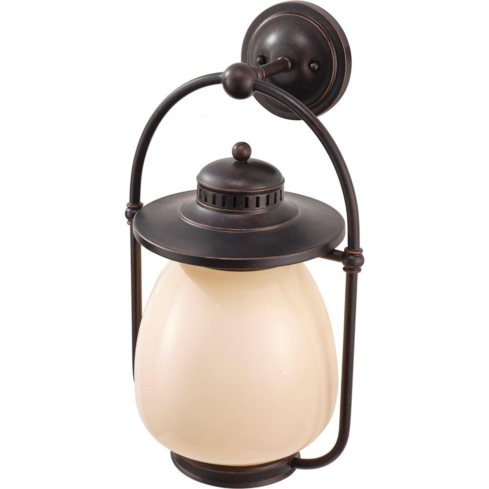 Feiss Mc Coy 1-Light Grecian Bronze Outdoor Wall Lantern