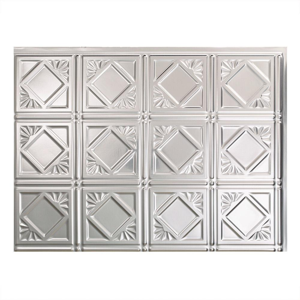 Fasade 24 in x 18 in traditional 4 pvc decorative backsplash traditional 4 pvc decorative backsplash panel in brushed doublecrazyfo Images