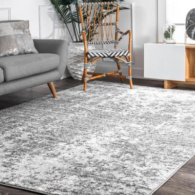 Deedra Misty Contemporary Gray 10 ft. Square Rug