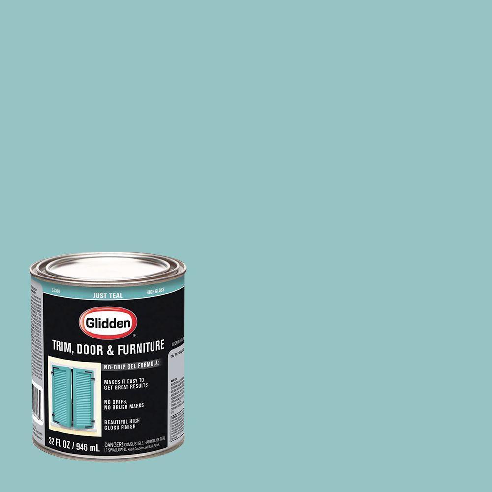 Glidden 1-qt. Just Teal Interior/Exterior Oil Paint