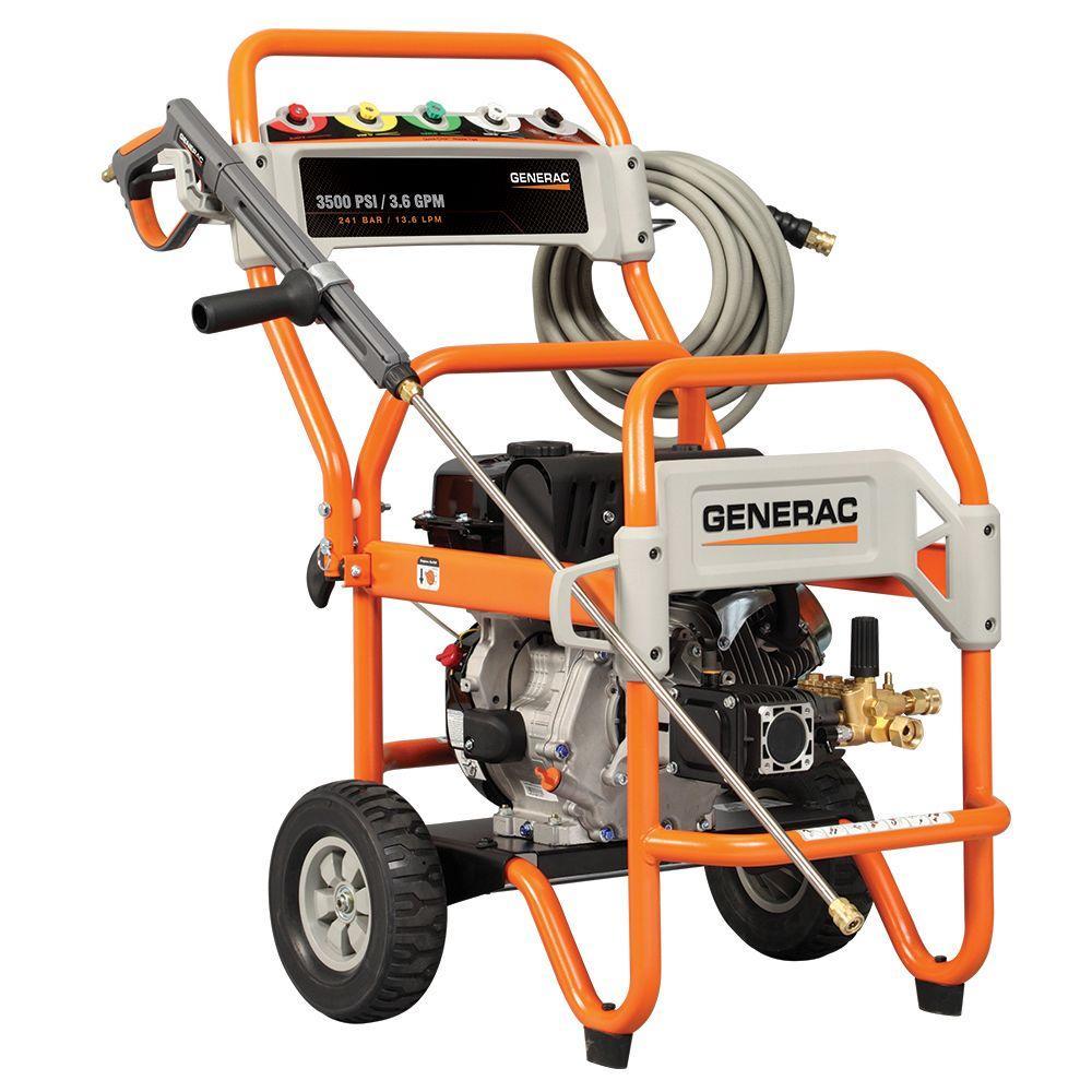 Generac 3500-PSI 3.2-GPM OHV Engine Triplex Pump Gas Powered Pressure Washer-DISCONTINUED