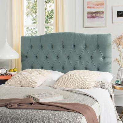 Axel Sky Blue King Tufted Headboard