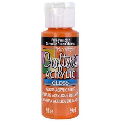 2 oz. Pure Pumpkin Gloss Crafter's Acrylic Paint