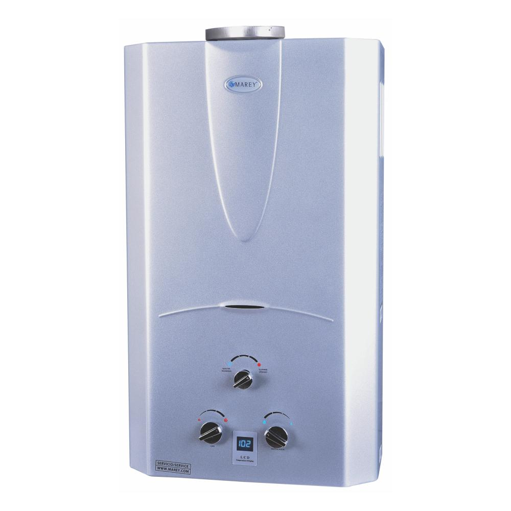 Marey 4 3 gpm natural gas digital panel tankless water for 1 bathroom tankless water heater