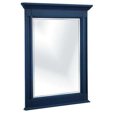 Channing 25 in. W x 32 in. H Single Framed Wall Mirror in Royal Blue