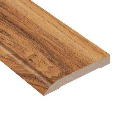 High Gloss Paso Robles Pecan 1/2 in. Thick x 3-13/16 in. Wide x 94 in. Length Laminate Wall Base Molding
