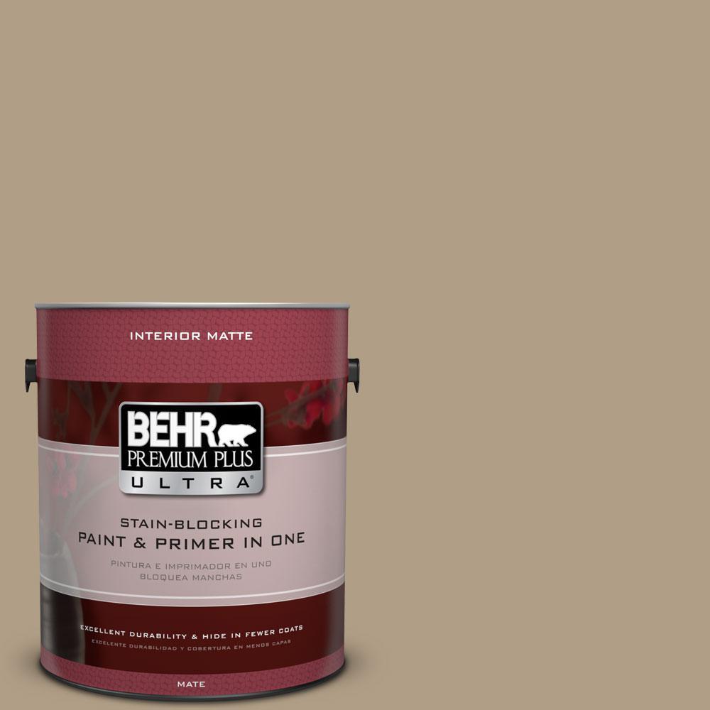 BEHR Premium Plus Ultra 1 gal. #ECC-53-2 Wild Rye Matte Interior Paint and Primer in One